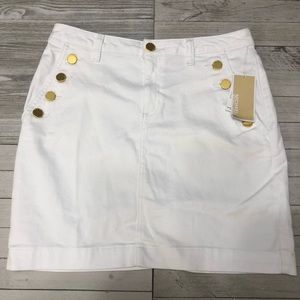 🆕 Michael Kors White Denim Mini Skirt